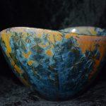Atelier de la Volane - Métiers d'art Ardèche Aubenas - artisanat d'art Ardèche - Cristallisations sur grès