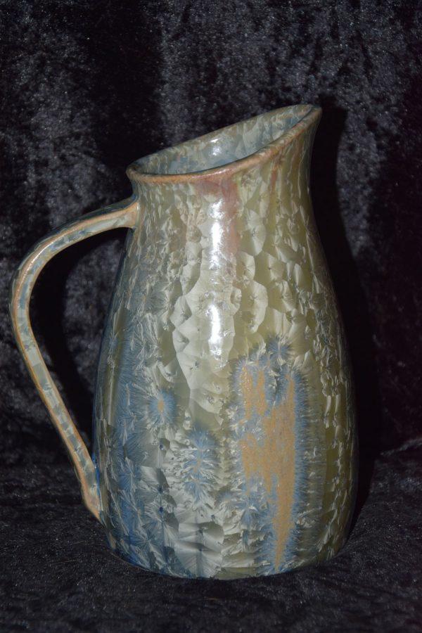 carafe en grès gris-bleu, contenance : 1l
