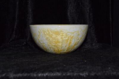 Grand bol en grès cristaux jaunes
