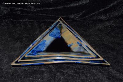 Assiette à hors d'œuvre en porcelaine– Assiettes triangulaires