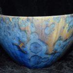 Artisan d'art Ardèche, poterie ardèche - cristallisations sur porcelaine