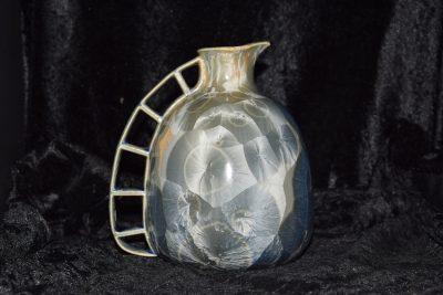 carafe en porcelaine bleu-gris