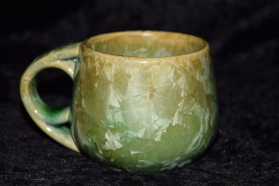 tasse à café gres vert
