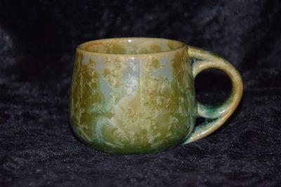 Tasse à café grès vert