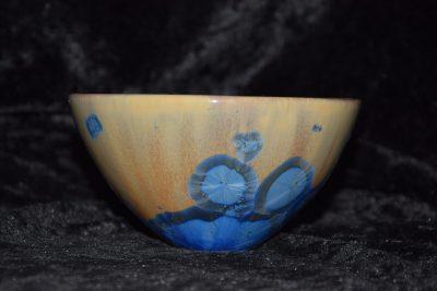 bol japonais porcelaine bleu mauve taille moyenne