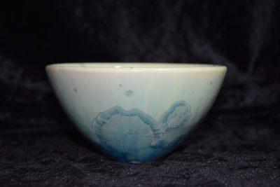 bol japonais porcelaine vert turquoise taille moyenne