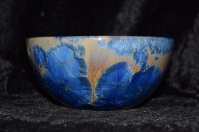 Grand bol porcelaine bleu-mauve-marron