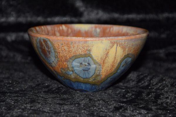 petit bol japonais porcelaine bleu mauve