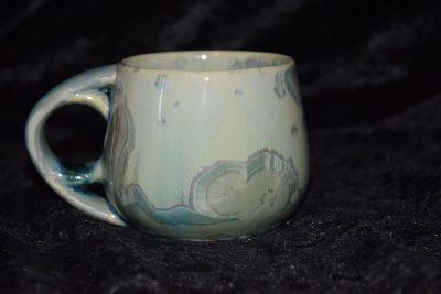 petite tasse porcelaine anse ronde vert turquoise