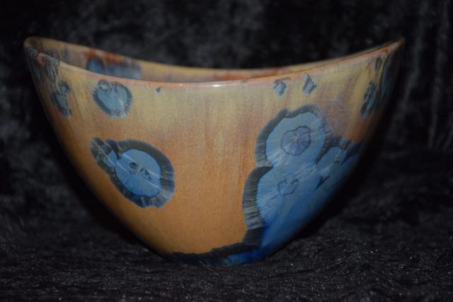 saladier porcelaine design bleu mauve