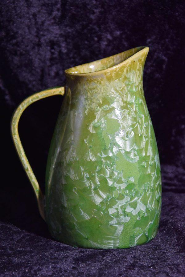 carafe en grès artisanale vert contenance 1 litre