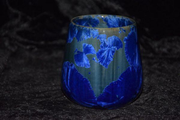 tasse sans anse porcelaine bleu-nuit