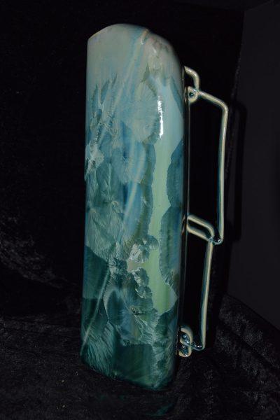 carafe vase porcelaine vert turquoise