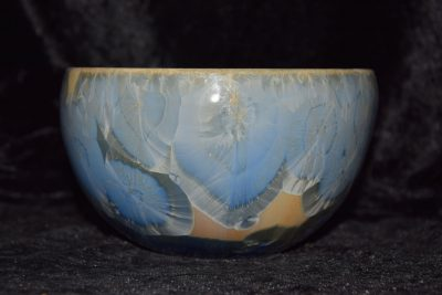 grand bol en porcelaine gris-bleu