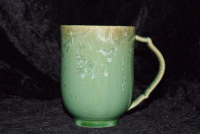 grande tasse verte en grès poterie artisanale