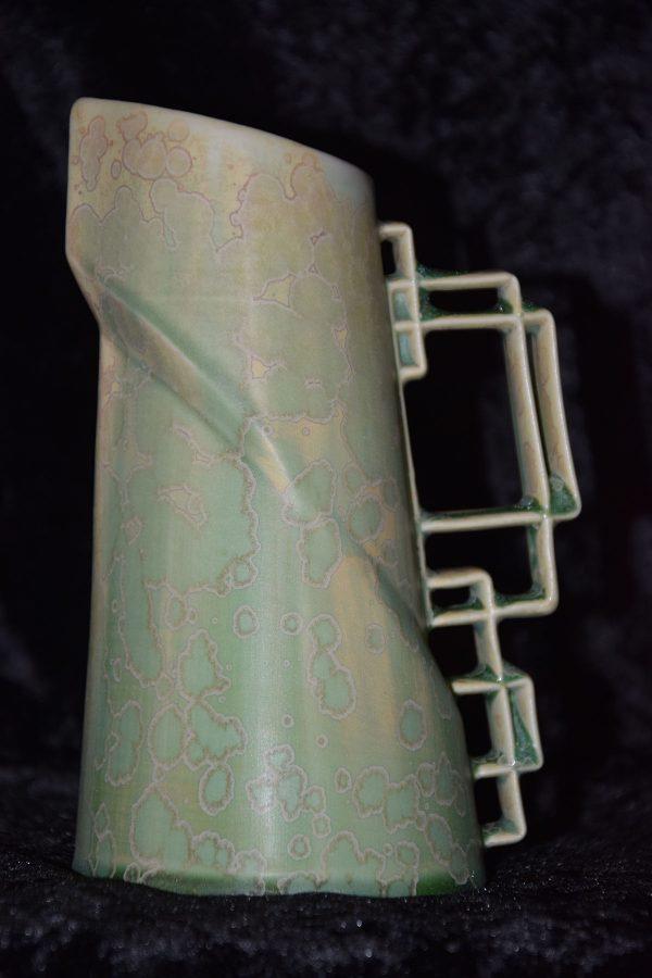 carafe en porcelaine 600 ml vert-pomme