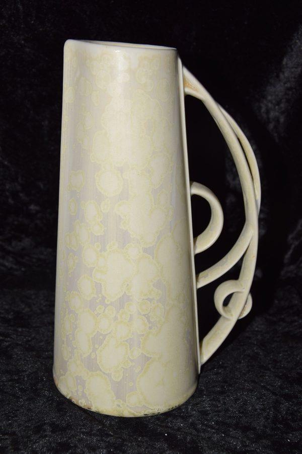 carafe en porcelaine droit blanc-laiteux