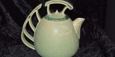 theiere porcelaine artisanale vert-pomme