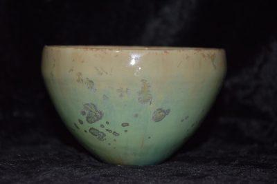 bol artisanal ceramique vert