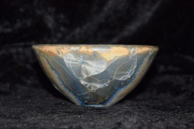 bol céramique porcelaine gris-bleu
