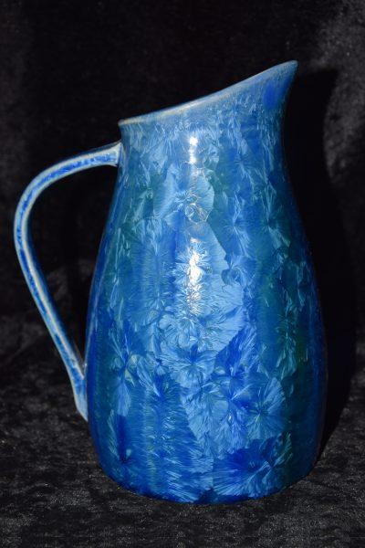 Carafe en grès bleu - céramique artisanale - 1 litre