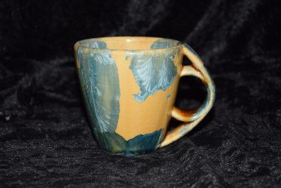 Tasse porcelaine 20cl orange bleu