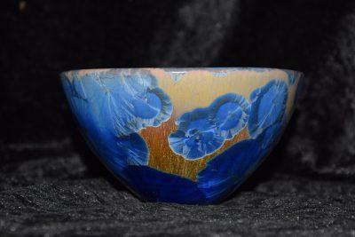 bol artisanal japonais bleu-marron
