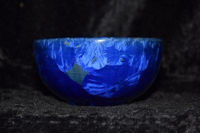 bol en porcelaine bleu électrique