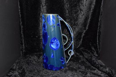 Porcelaine artisanale carafe bleu électrique