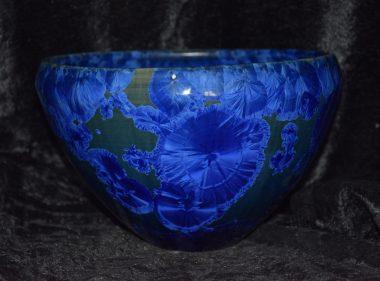Saladier porcelaine bleu-nuit
