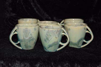 Tasses à café expresso turquoise en porcelaine