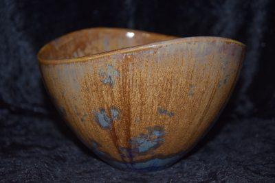 Saladier design porcelaine marron