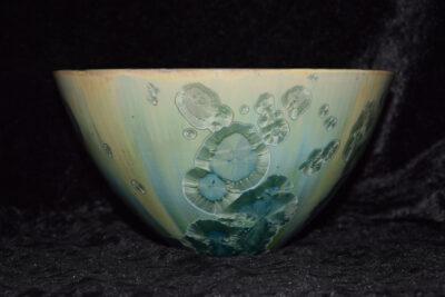 Saladier conique en porcelaine turquoise