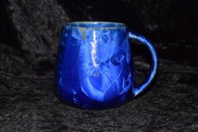 Tasse à thé en porcelaine bleu-nuit