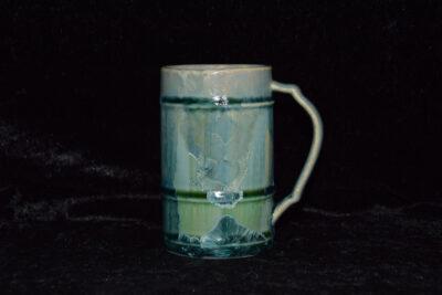Mug artisanal en porcelaine vert turquoise 25cl