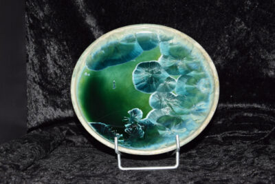 Assiettes à dessert en porcelaine turquoises