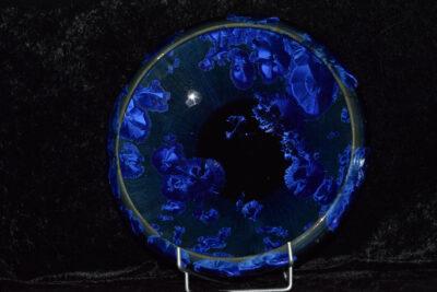 Coupe à fruits en porcelaine bleu nuit
