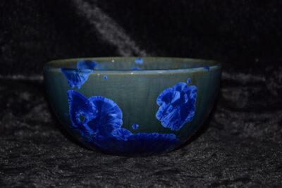 Grand bol en porcelaine bleu électrique