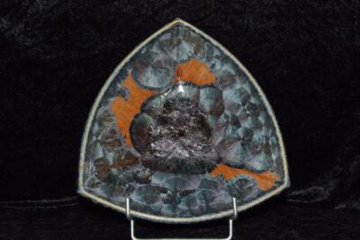 Petite coupe triangulaire en porcelaine