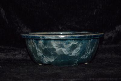 Pot à bonsaï gris vert rond 18 cm porcelaine
