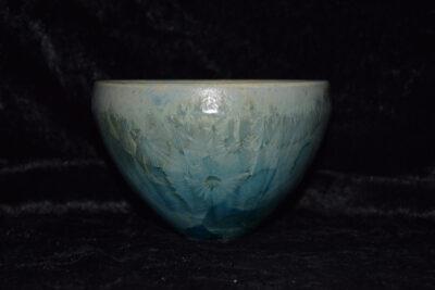 Bol artisanal en porcelaine vert turquoise