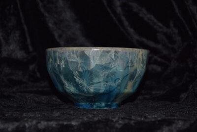 Bol à facettes en porcelaine gris bleu