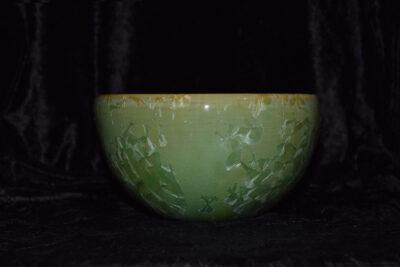 Grand bol en grès vert 8 cm