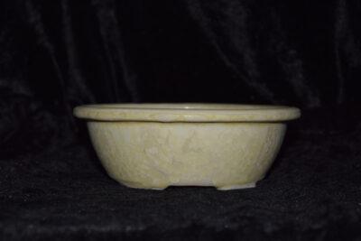 Pot à bonsaï rond 15 cm porcelaine blanc