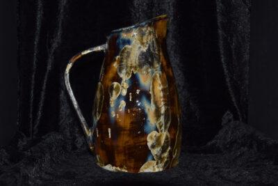 Carafe en grès noir - céramique artisanale - 1 litre