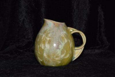 Petite carafe en porcelaine 50 cl vert citron