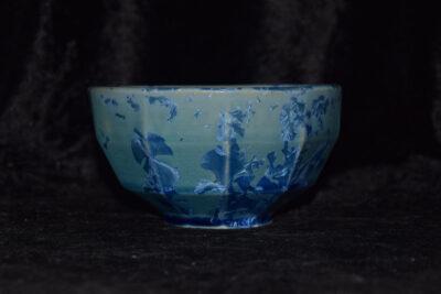 Bol à facettes en grès bleu