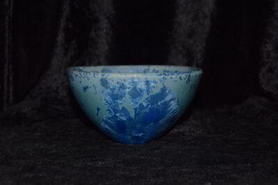 Bol céramique artisanale grès bleu forme japonais