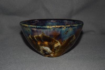 Bol céramique artisanale grès noir forme japonais