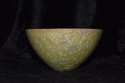 Bol en grès artisanal style japonais vert citron